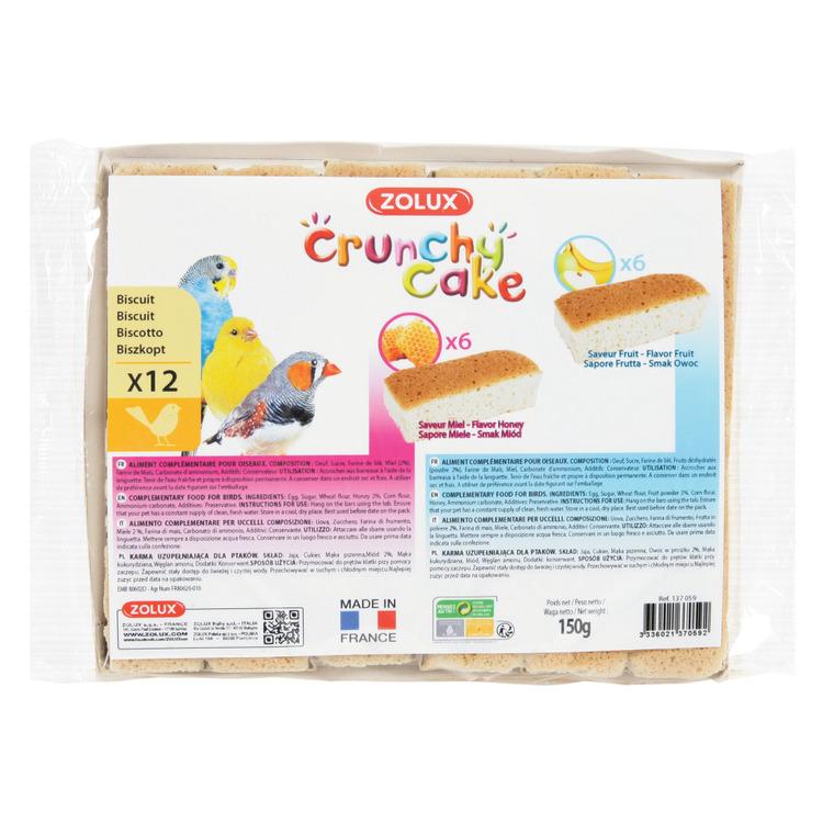 Lot de 12 crunchy cake au miel et aux fruits pour oiseaux 334530