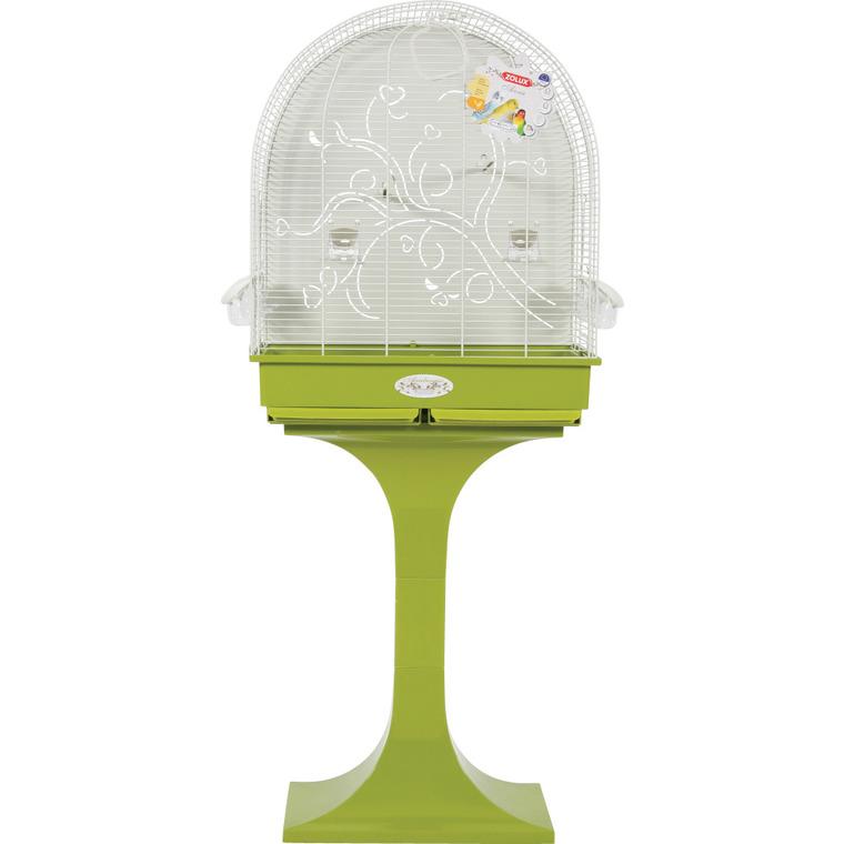 Cage à oiseaux arabesque anna verte L. 62 x l. 42 x H. 143 cm 334539