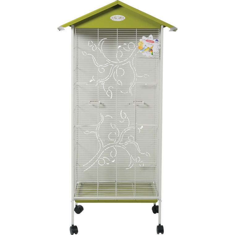 Cage à oiseaux arabesque axelle verte L. 78 x l. 48 x H. 156 cm 334542