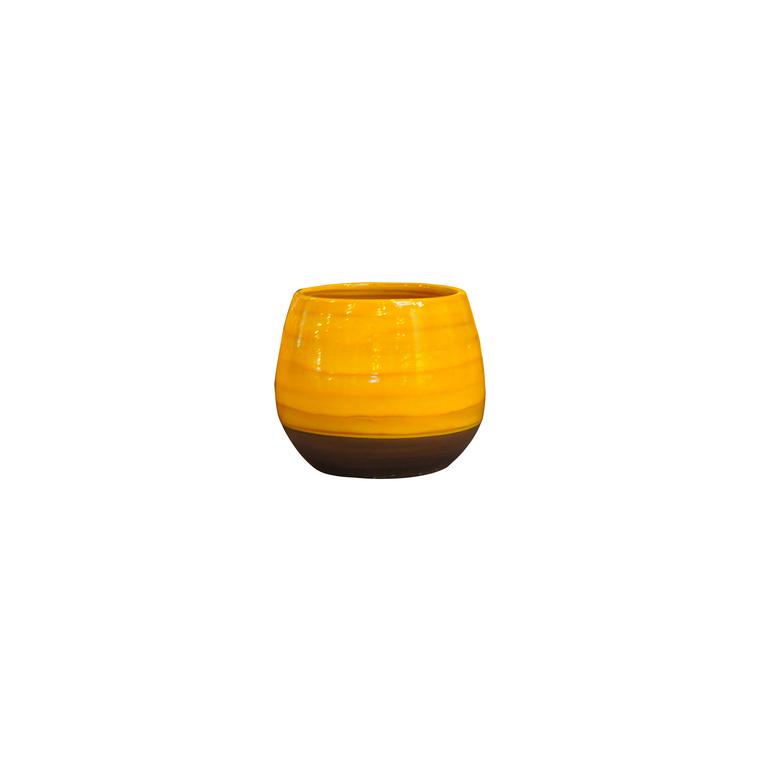 Pot Cancale Ibiza Sunshine en terre cuite émaillée H 21 x Ø 21 cm 334868
