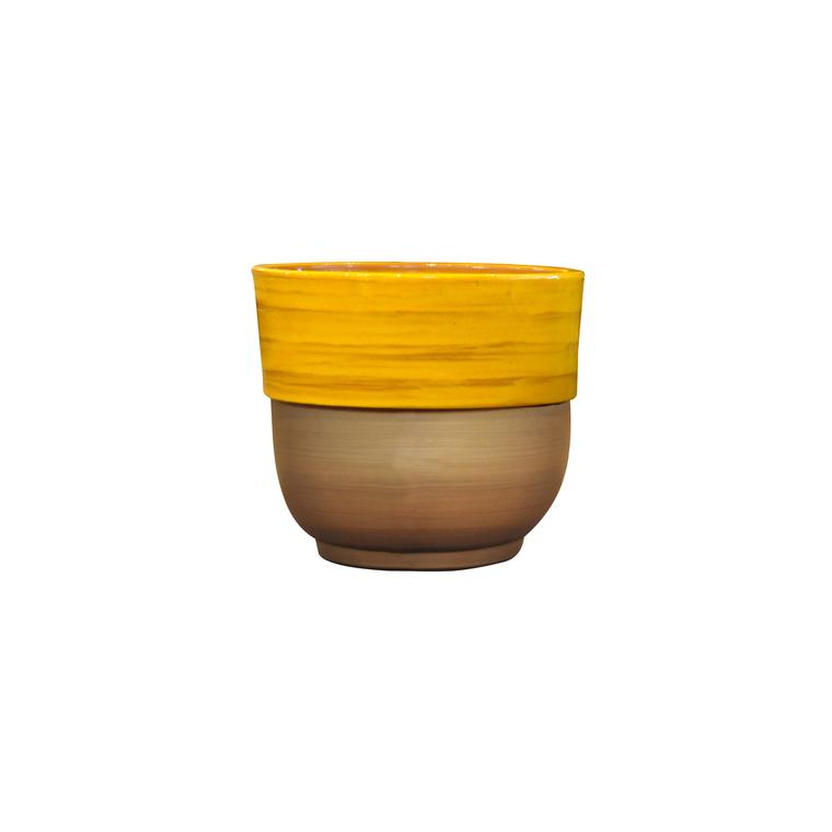 Vase rebord Ibiza Sunshine en terre cuite émaillée H 27 x Ø 30 cm 334906