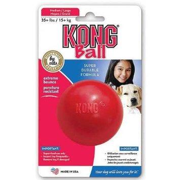 Jouet chien Kong ball Large rouge 7cm