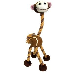 Jouet chien corde singe marron 40cm