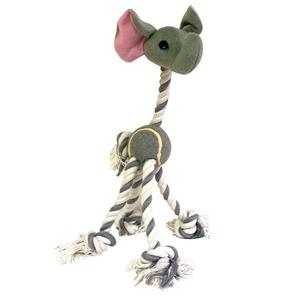 Jouet chien corde éléphant grise 40cm