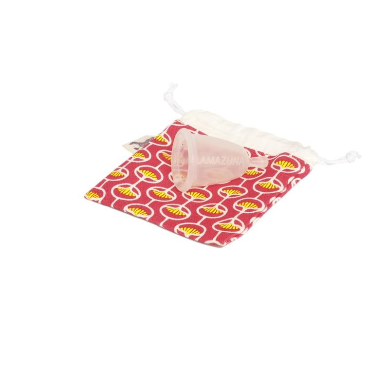 Cup féminine menstruelle avec pochon rose taille 1 341040