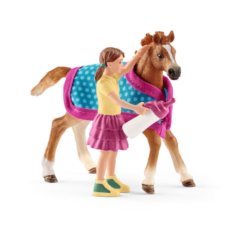 Figurine Poulain avec couverture Série Horse club 8,1x2,2x7,9 cm 341292
