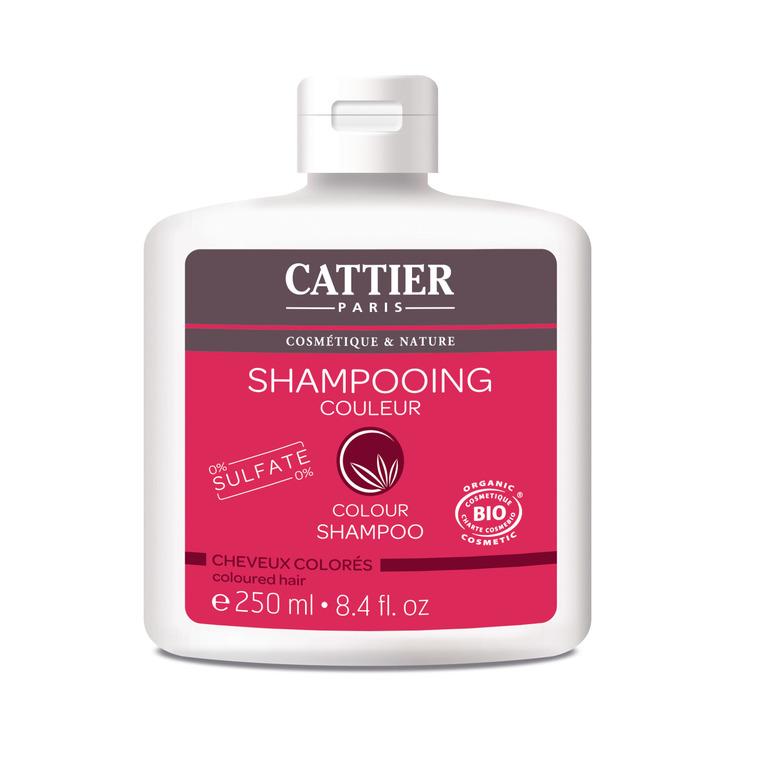 Shampoing couleur Cattier sans sulfate bio en flacon de 250 ml 341392