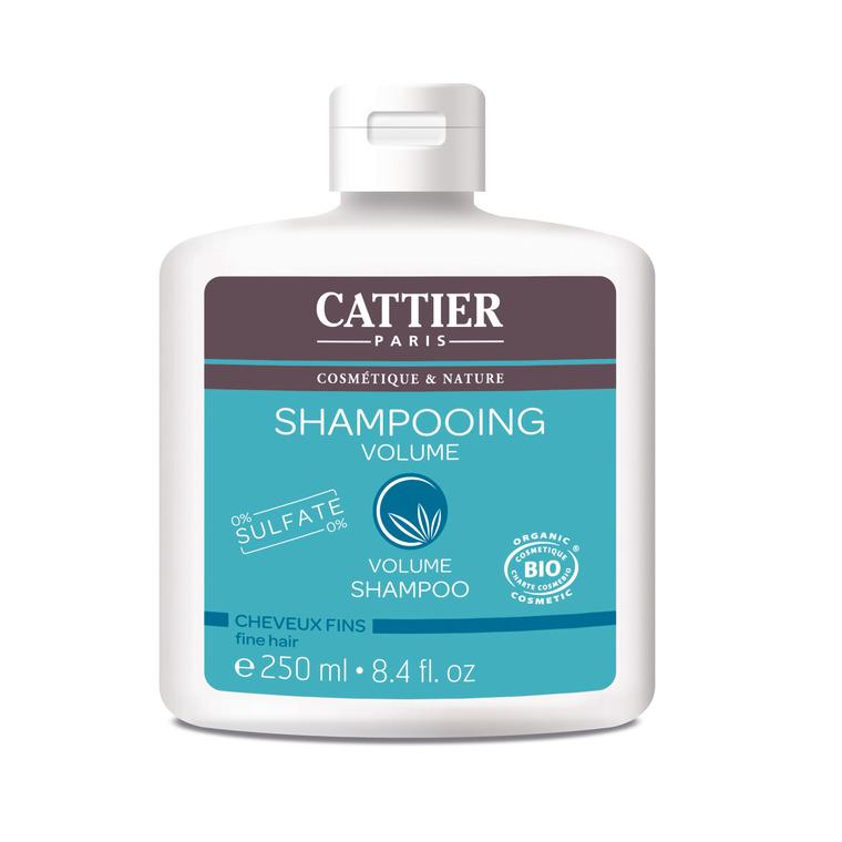 Shampoing volume Cattier sans sulfate bio en flacon de 250 ml 341393