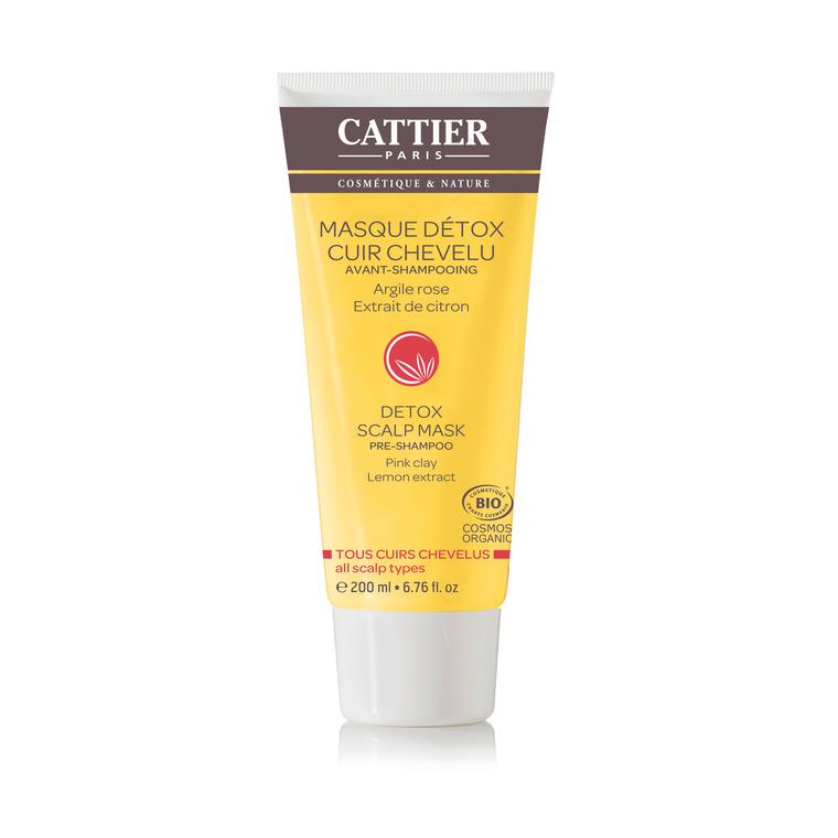 Masque détox avant-shampoing Cattier bio en tube de 200 ml 341396