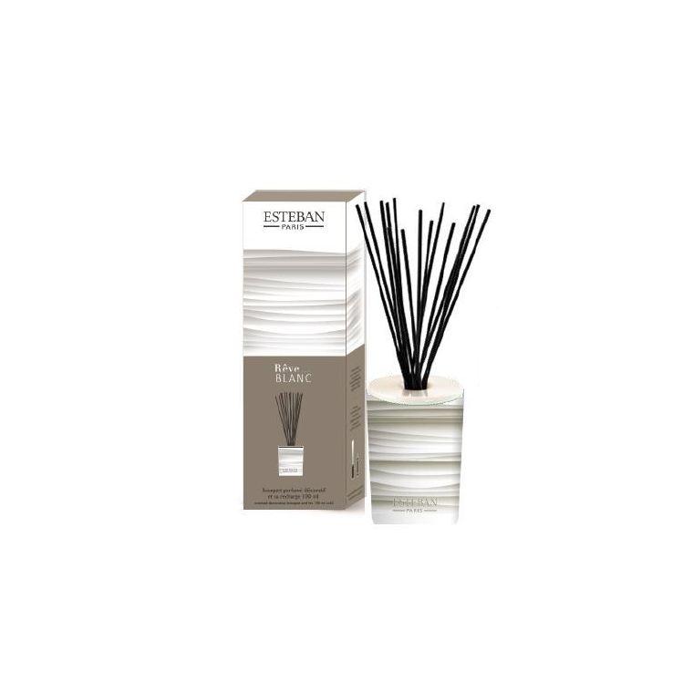 Bouquet parfumé décoratif + recharge Rêve Blanc - 100 ml 341934