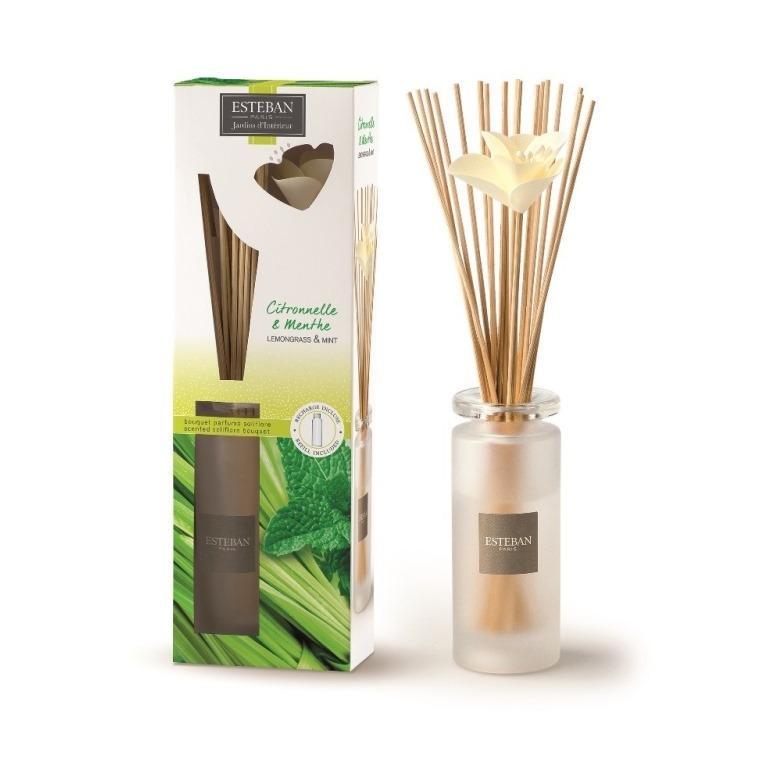 Bouquet parfumé + recharge Citronnelle & Menthe Esteban - 75 ml 341941