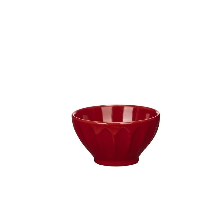 Bol côtes plates rouge 342077