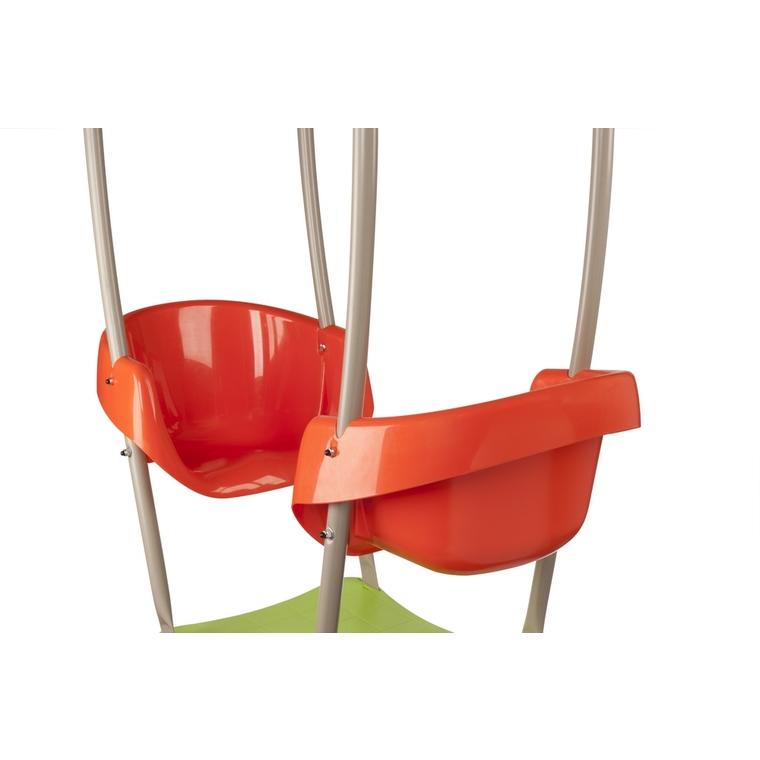 Portique en bois multi-activités avec 2 balançoires, un face à face et une nacelle cocon 2,30 m 342252