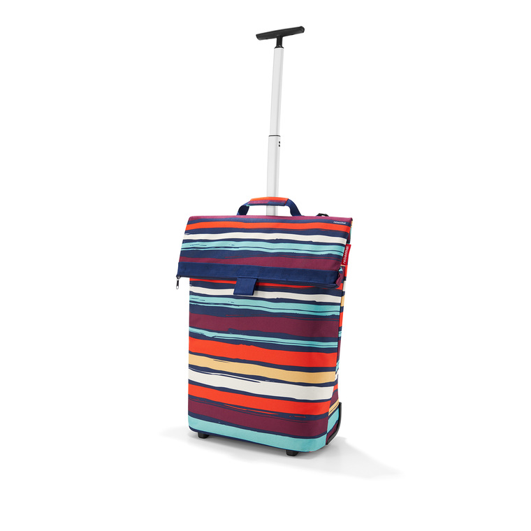 Sac à roulettes Trolley taille M rayures multicolores 43x53x21 cm 342366
