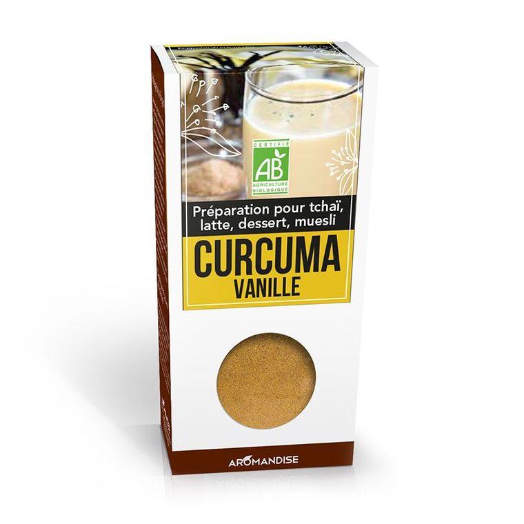 Curcuma vanille en poudre bio en boite de 60 g 342643