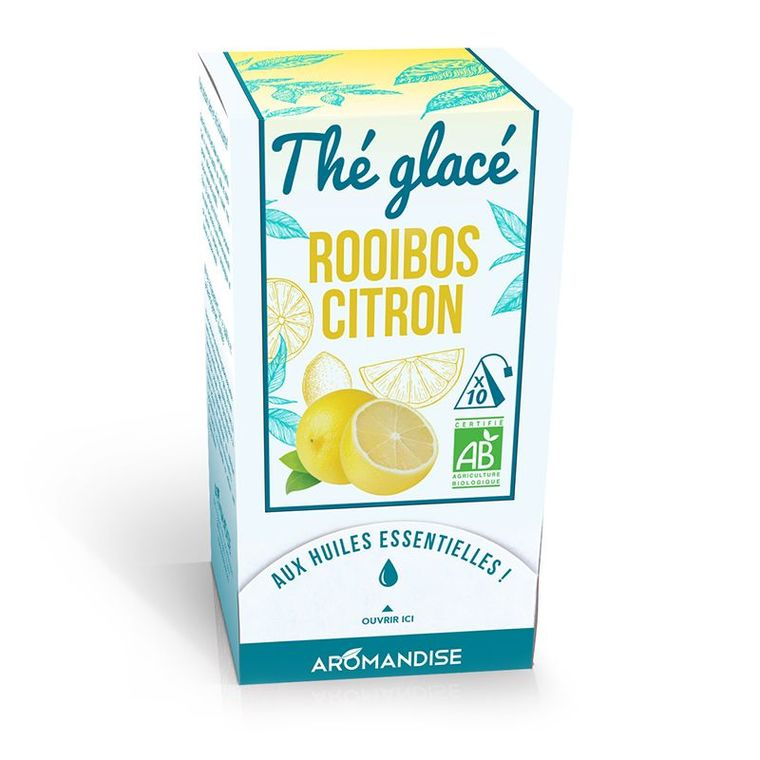 Thé glacé rooibos et citron bio en boite de 30 g 342659