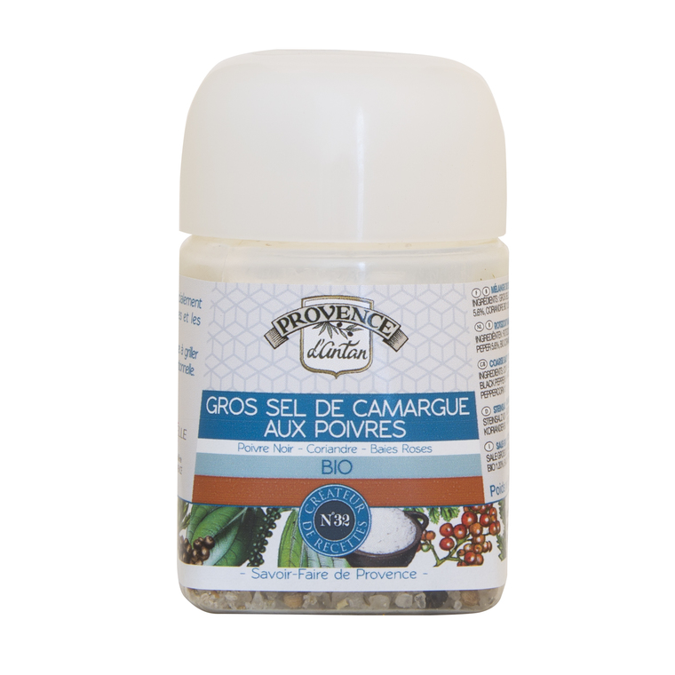 Recharge de gros sel de Camargue aux 3 poivres bio 90 g 342742