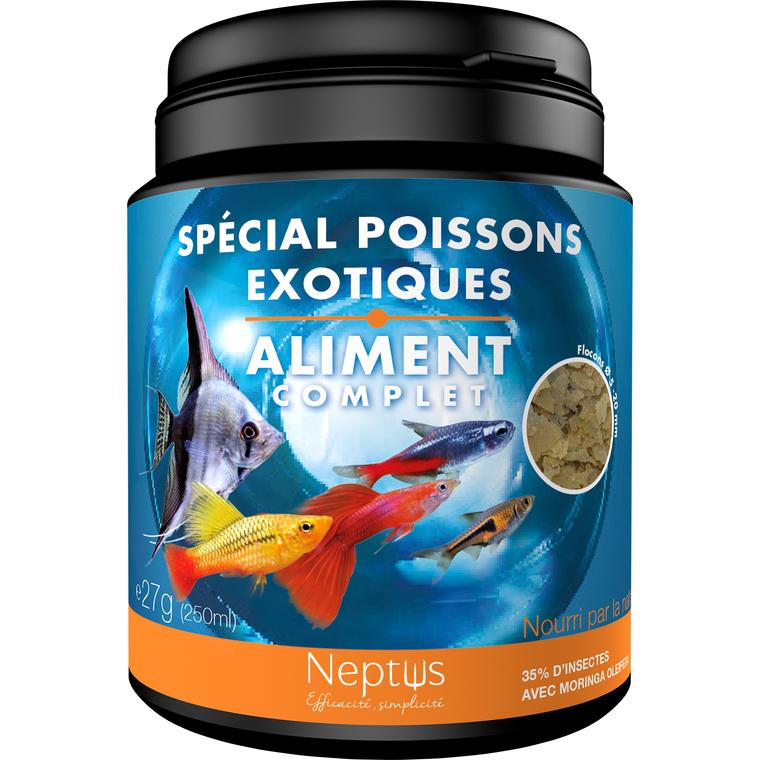 Aliment complet (flocons) pour poissons exotiques - Boîte 250 ml 343002