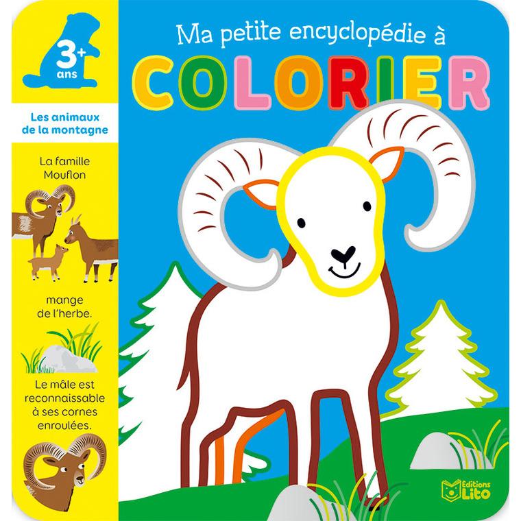 Les Animaux de la Montagne Ma Petite Encyclopédie à Colorier 3 ans Éditions Lito 343612