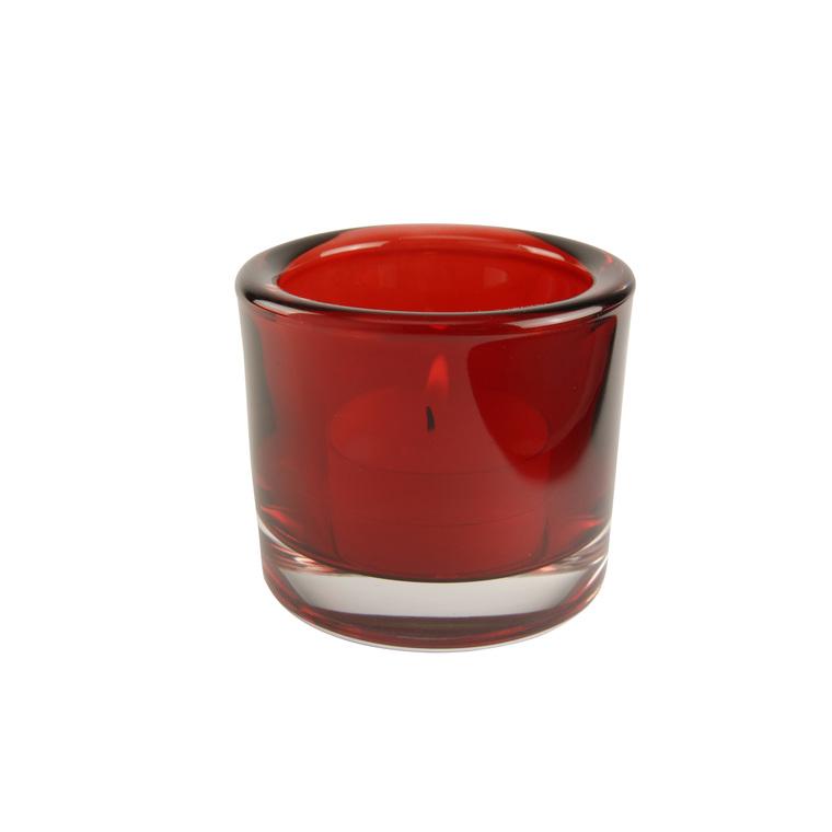 Photophore couleur rouge et gris - 5,7 cm 344792
