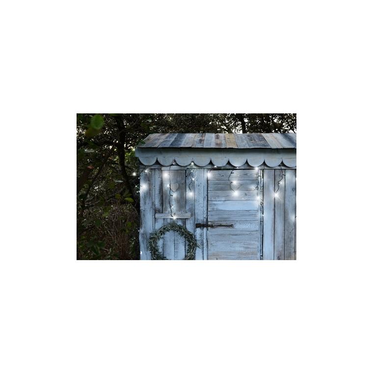 Stalactite lumineuse extérieure animée blanc pur à LED solaire 0,5x16 m 344886
