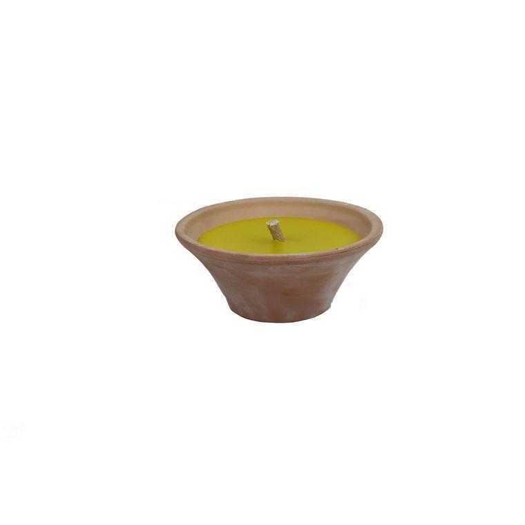 Bougie vasque en terre cuite citronnelle 34727