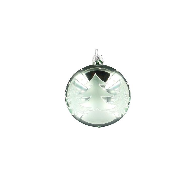 Boule décorée sapin - 7 cm 348682