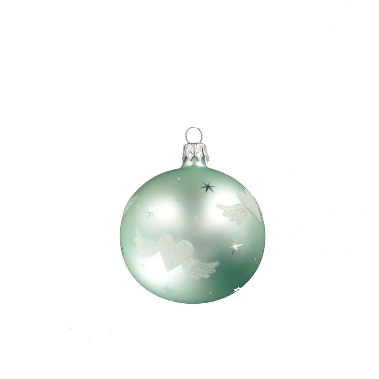 Boule décorée cœur - 7 cm 348684