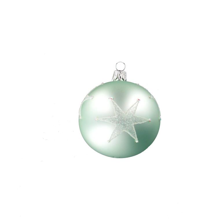 Boule décorée étoile - 7 cm 348696
