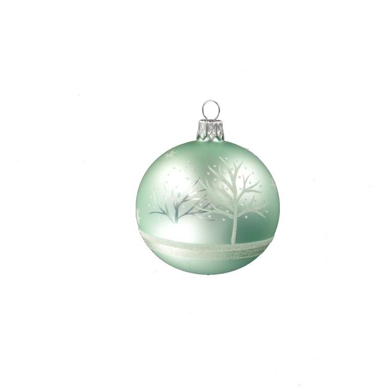 Boule décorée arbre - 7 cm 348706