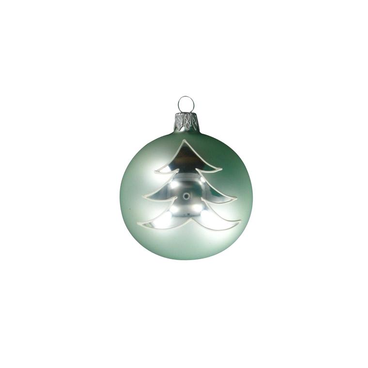 Boule décorée sapin - 7 cm 348707
