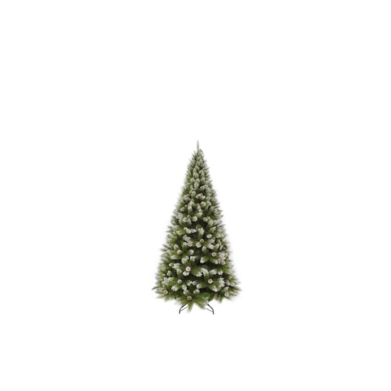 Sapin de Noël artificiel vert Pittsburgh avec pommes de pin 155 cm 348859