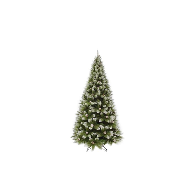 Arbre de Noël Pittsburgh avec pommes de pin H 215 cm 348861