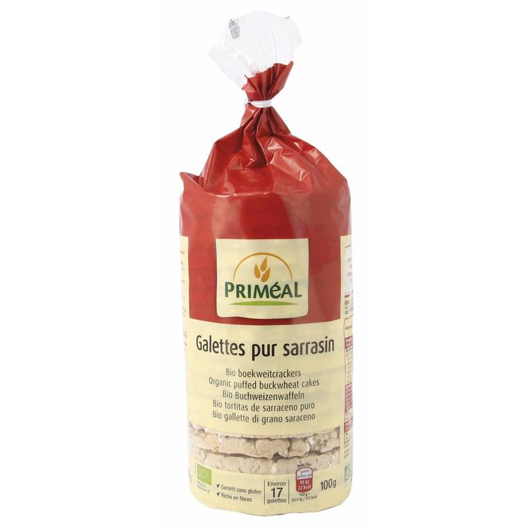 Galettes de pur sarrasin bio en sachet de 100 g 349334