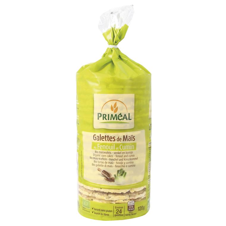Galettes de maïs au fenouil et cumin bio en sachet de 120 g 349335