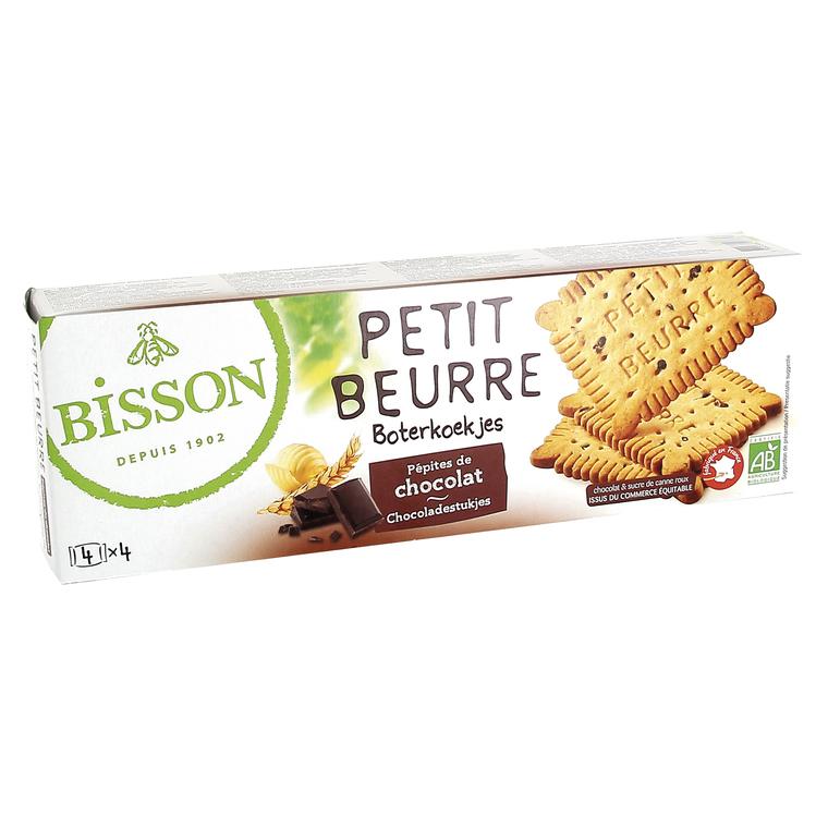 Petits-beurre aux pépites de chocolat bio en étui de 150 g 349374