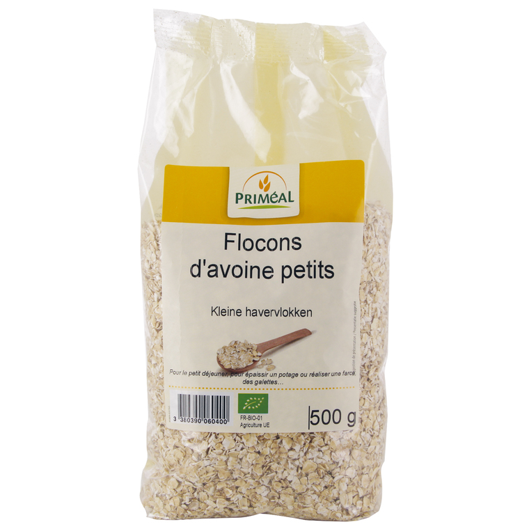 Flocons d'avoine baby bio en sachet de 500 g 349442