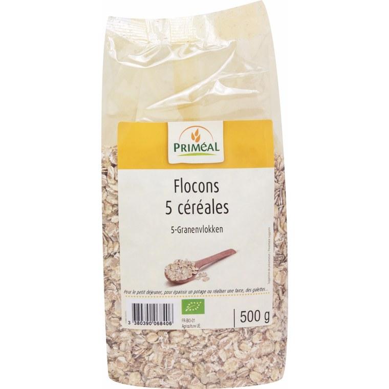 Flocons de 5 céréales bio en sachet de 250 g 349444