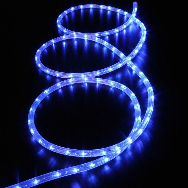 Guirlande cordon lumineux LED bleu 5 m