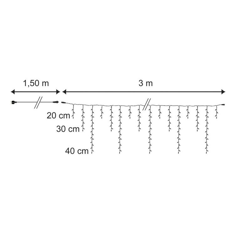 Guirlande stalactite raccordable rouge 3 m 350433