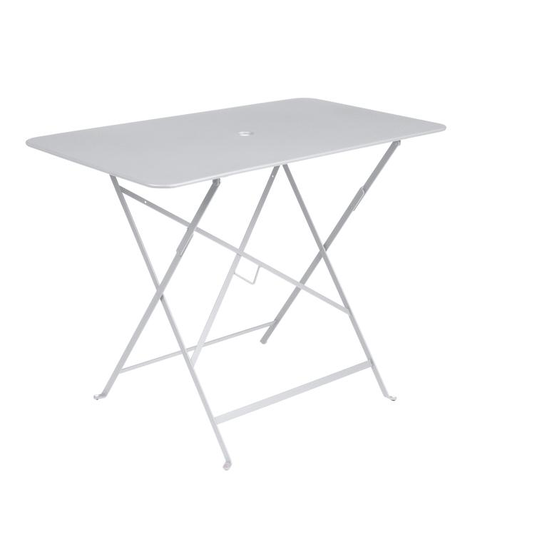 Table pliante Bistro Fermob en acier coloris blanc coton 97 x 57 x 74 cm 351108