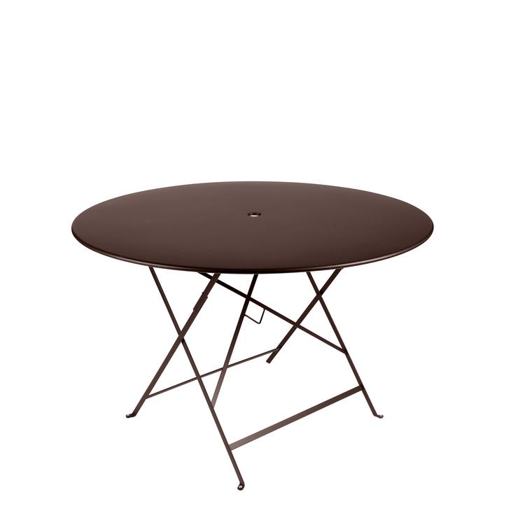 Table ronde pliante Bistro Fermob en acier coloris rouille Ø 117 cm 351125