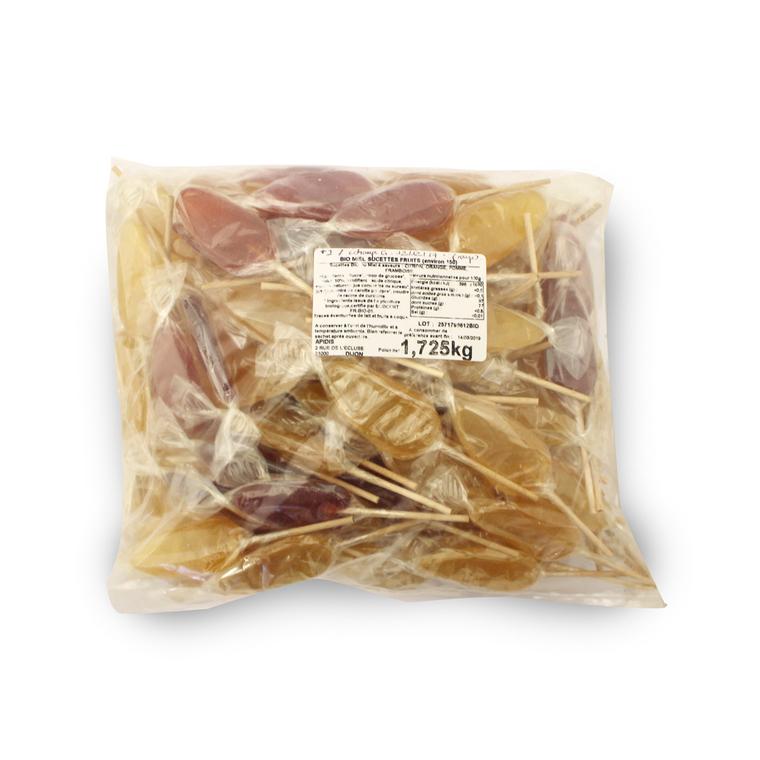 Sucettes au miel et aux fruits bio en sachet de 10 g 351918