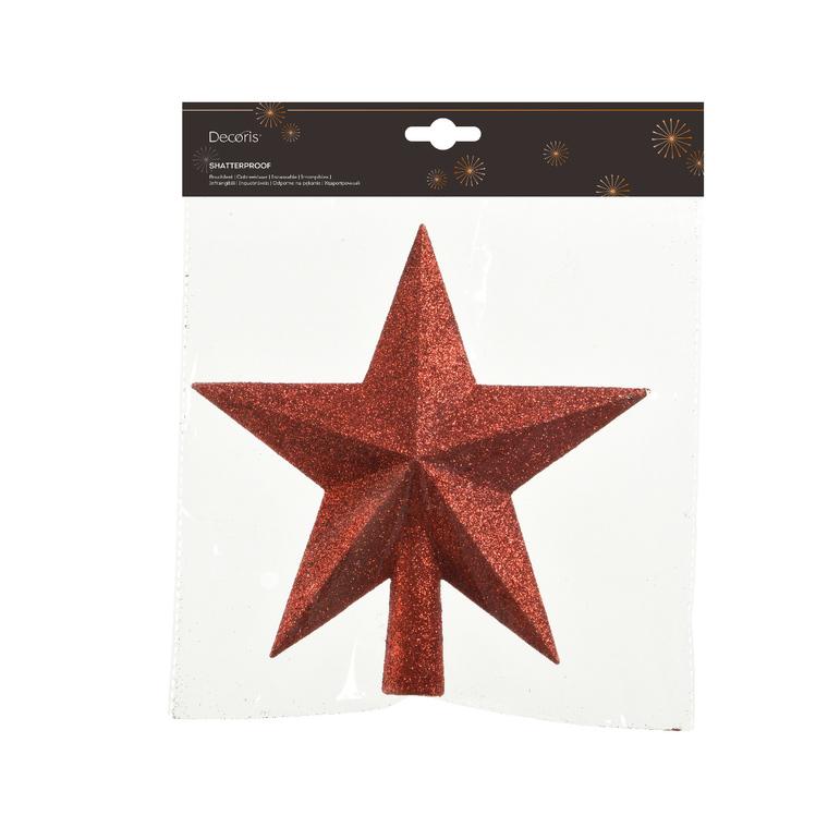Cime étoile plastique pailletée 352979