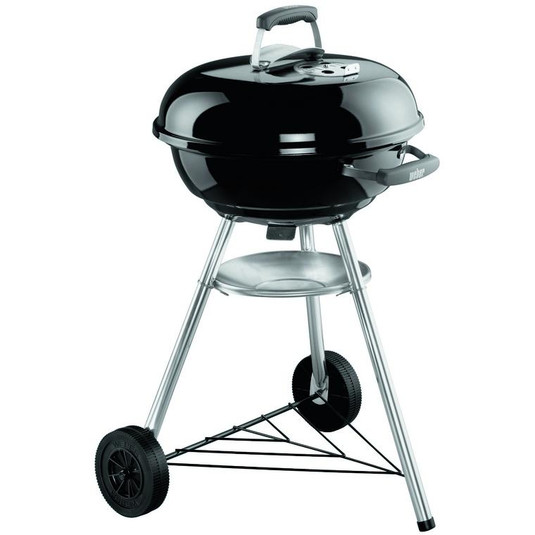 Barbecue à charbon Weber Compact Kettle D 47 cm noir 35398