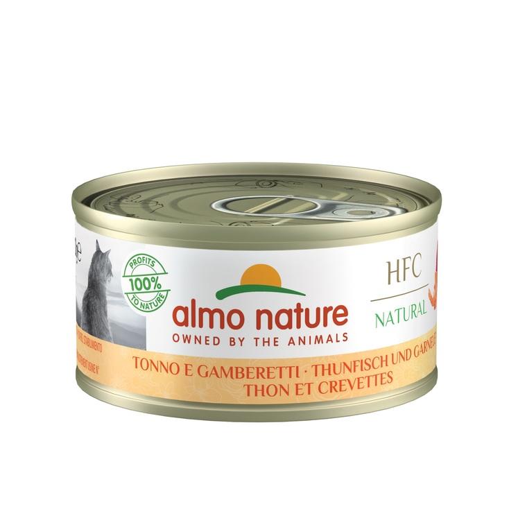 Aliment pour chat Thon et crevette en boite de 70 g 354200