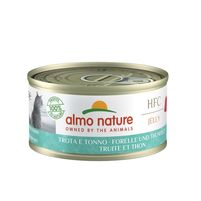 Aliment pour chat Truite et Thon en boite de 70 g 354202