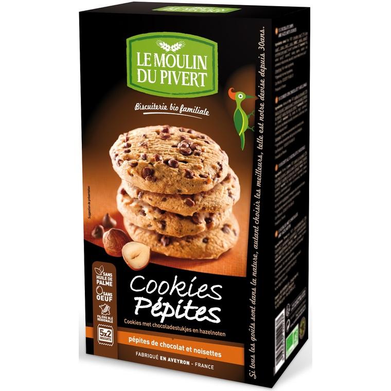 Cookies bio aux pépites de chocolat et noisettes LE MOULIN DU PIVERT