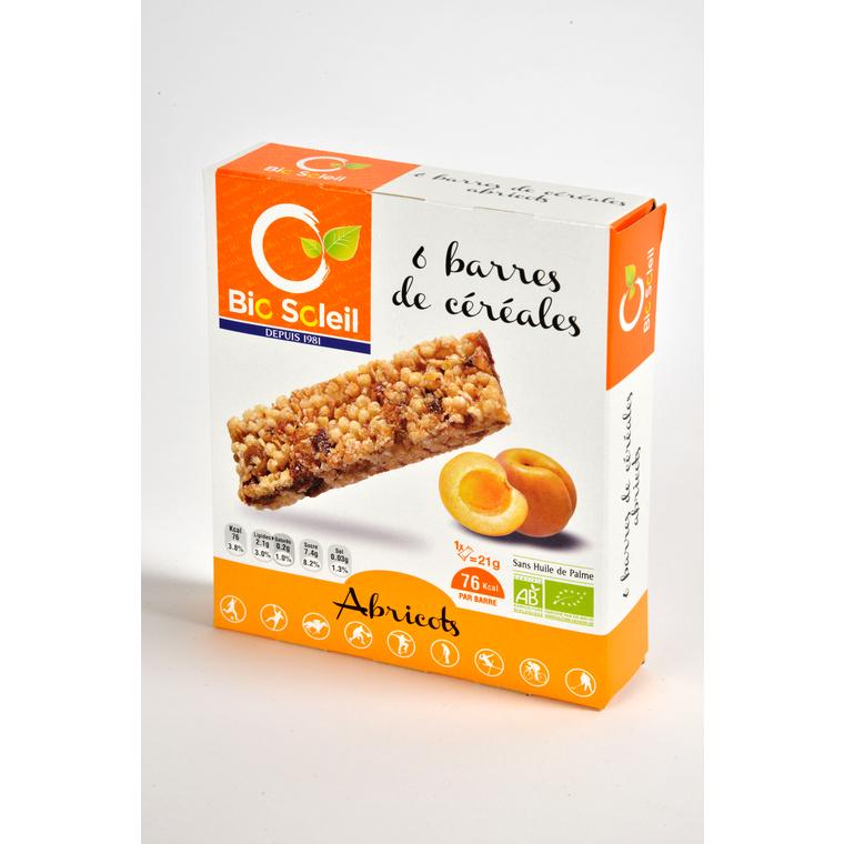 6 barres céréales abricot Biosoleil 125g 354917