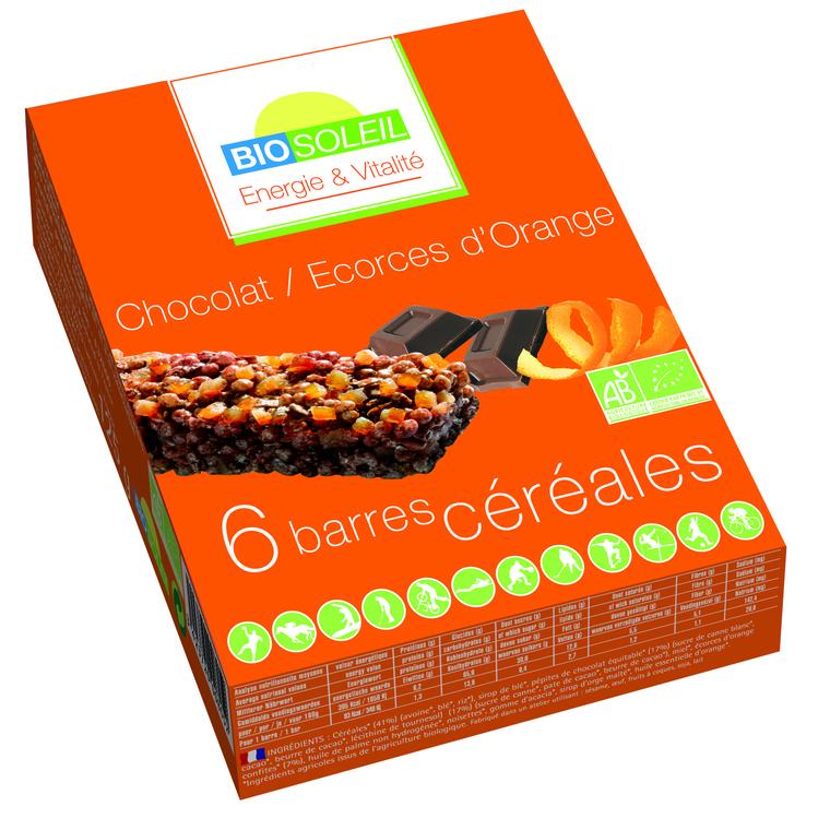 6 barres céréales choco-écorce Orange Biosoleil 125g 354921
